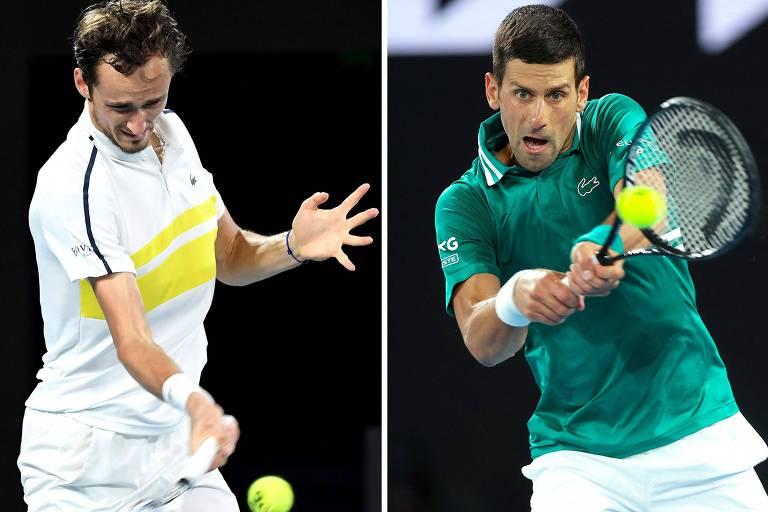 Final na Austrália opõe Djokovic atrás do 9º título a Medvedev imparável