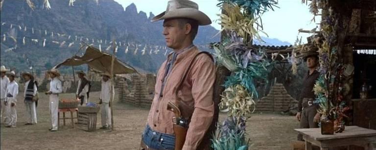 """Steve McQueen em cena de """"Sete Homens e um Destino"""""""