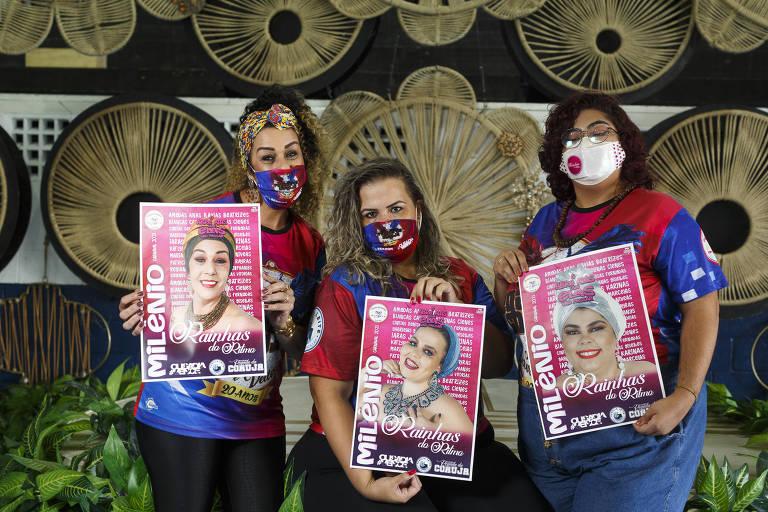 Ritmistas de escola de samba ganham dia de beleza no Grajaú