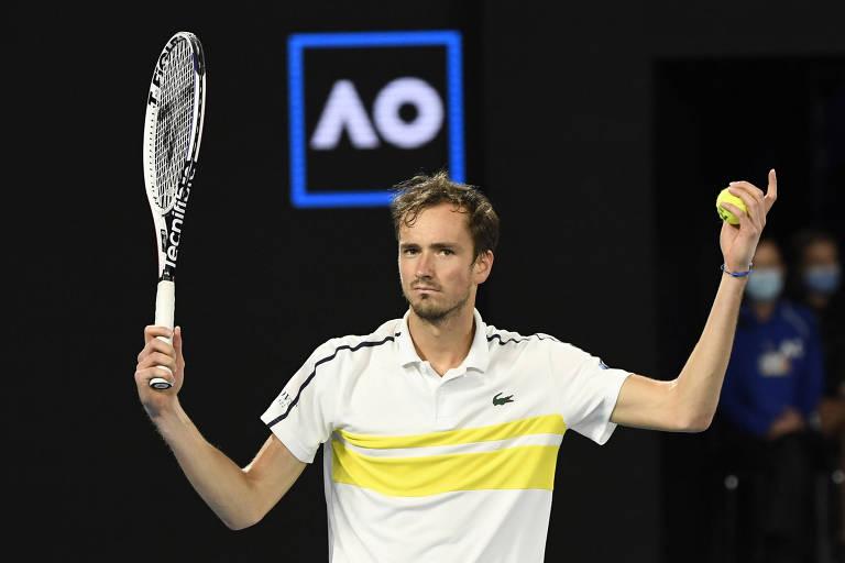 Daniil Medvedev encontrou muitas dificuldades em sua segunda final de Grand Slam