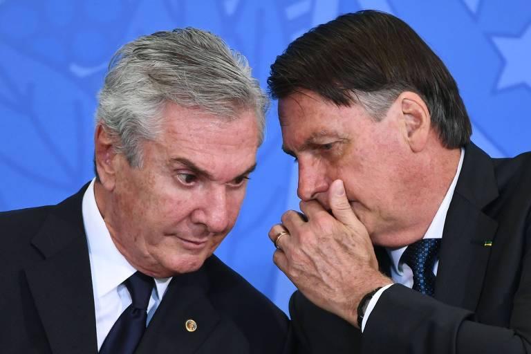 O ex-presidente e atual senador Fernando Collor de Mello e o presidente Jair Bolsonaro