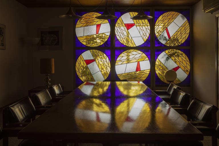 Sala de refeições do 9º andar no prédio da Folha