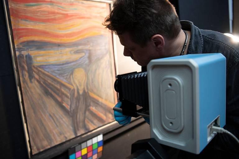 Tela 'O Grito' tem inscrição feita pelo próprio Munch, conclui museu norueguês