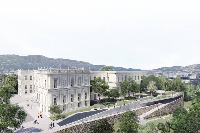 Veja imagens do projeto arquitetônico e de restauro do Museu Nacional