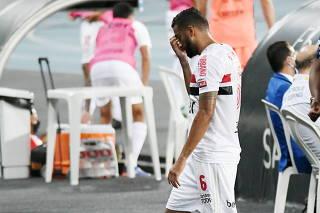 Partida entre Botafogo e São Paulo pelo Campeonato Brasileiro 2020.