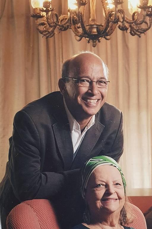 Alexandre Kalache e Lourdes, a mãe dele
