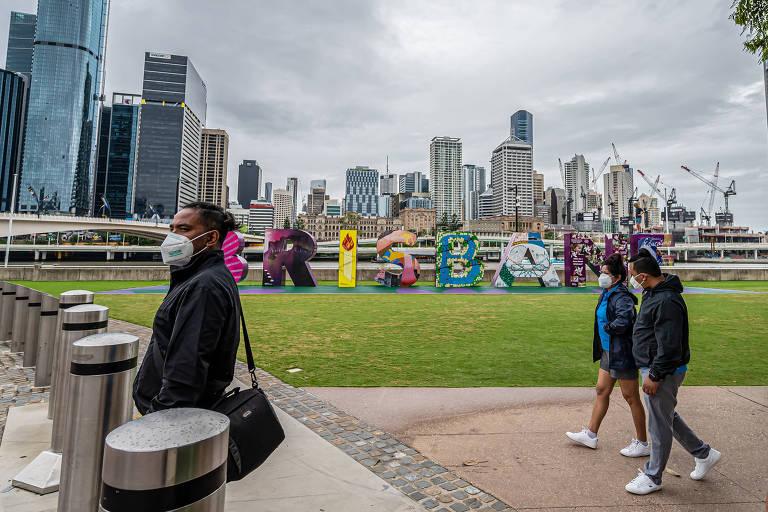 Cidade de Brisbane durante a pandemia