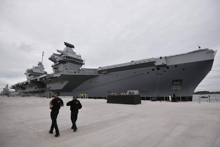 Reino Unido alerta China com maior demonstração de força naval desde a Guerra das Malvinas
