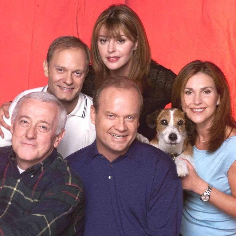 """Elenco da série """"Frasier"""", da NBC"""