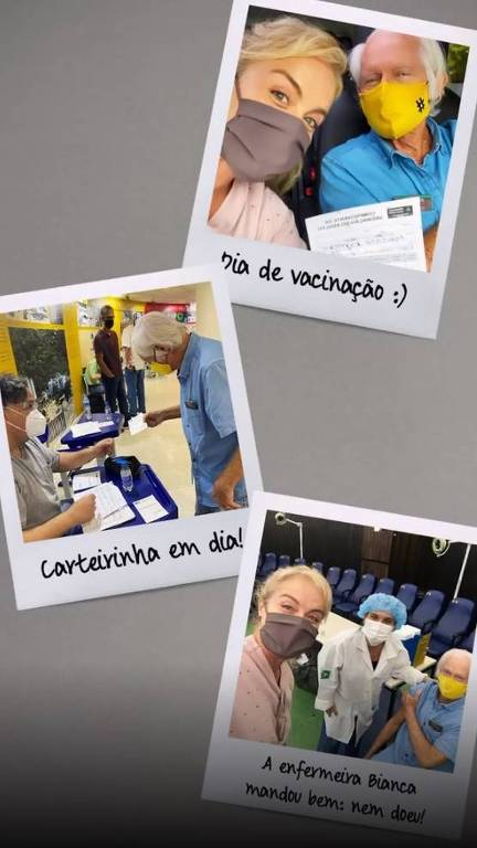 Angélica vacina o pai, Francisco