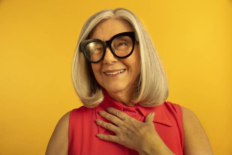 Maria Cristina Pimenta, 76, em foto de campanha da marca de produtos para o cabelo EuMe