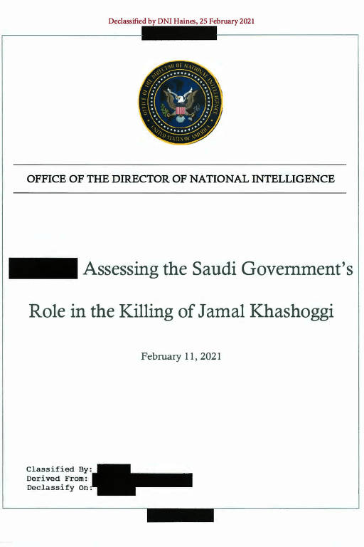 Veja relatório dos EUA que aponta príncipe saudita como responsável pelo assassinato de jornalista em 2018