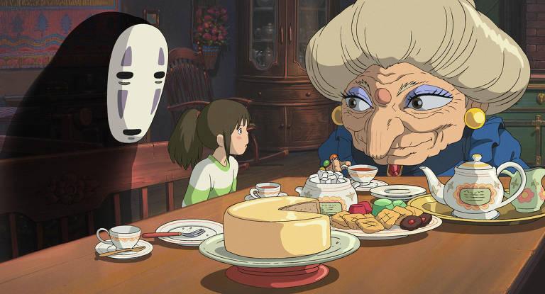 """Cena do filme """"A Viagem de Chihiro"""""""