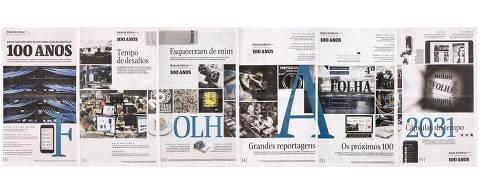 Sao Paulo, , BRASIL, 27-02-2021:  FOLHA 100 Anos. Cadernos da edicao da FOLHA 100 anos, domingo, dia 28 de fevereiro 2021 (Foto: Eduardo Knapp/Eduardo   Knapp, PODER).