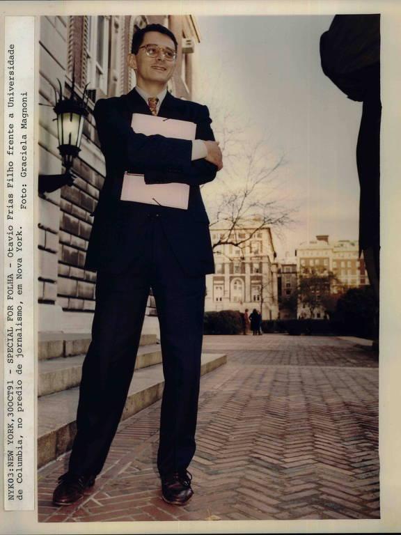 Em 1991, Otavio na Universidade Columbia, em Nova York, onde recebeu o prêmio Maria Moors Cabot