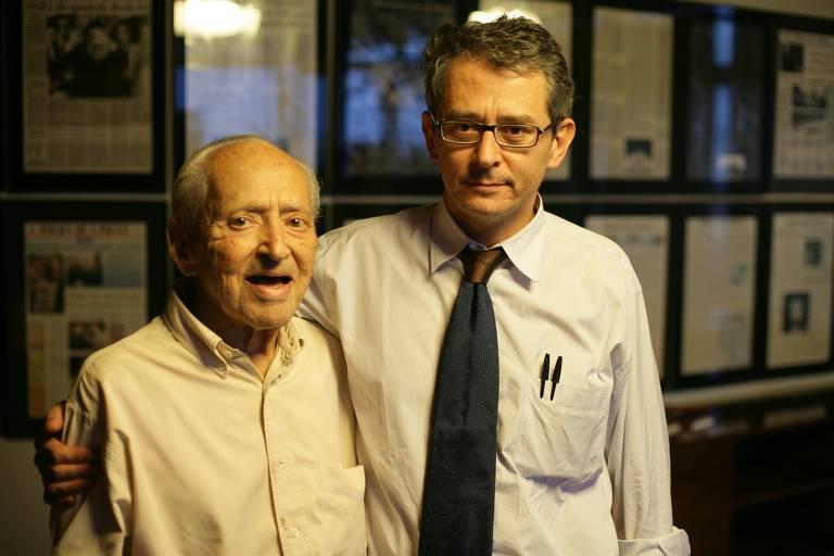 Em 2006, o então publisher da Folha, Octavio Frias de Oliveira, e seu filho mais velho, Otavio Frias Filho, diretor de Redação;