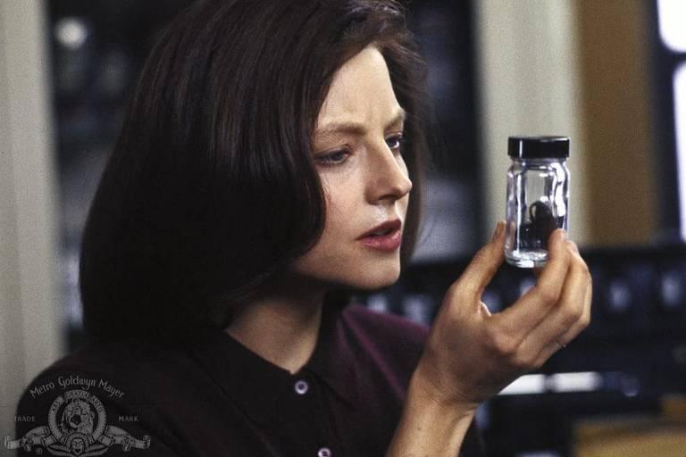 """A atriz Jodie Foster em cena de """"O Silêncio dos Inocentes"""""""