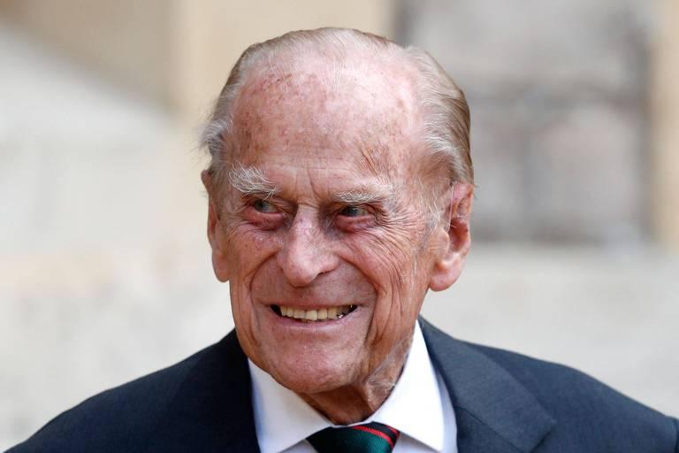 O príncipe Philip, durante cerimônia no Castelo de Windsor, no ano passado