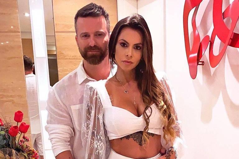 Cantor sertanejo Marlon e sua namorada Maria Clara