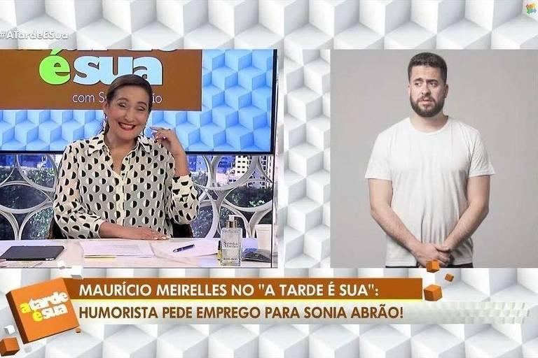 Sonia Abrão conversa com Mauricio Meirelles no A Tarde É Sua