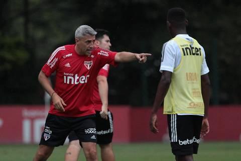 26.02.2021 - Treino do Sao Paulo. Hernan Crespo. Foto Divulgacao/saopaulofc.net