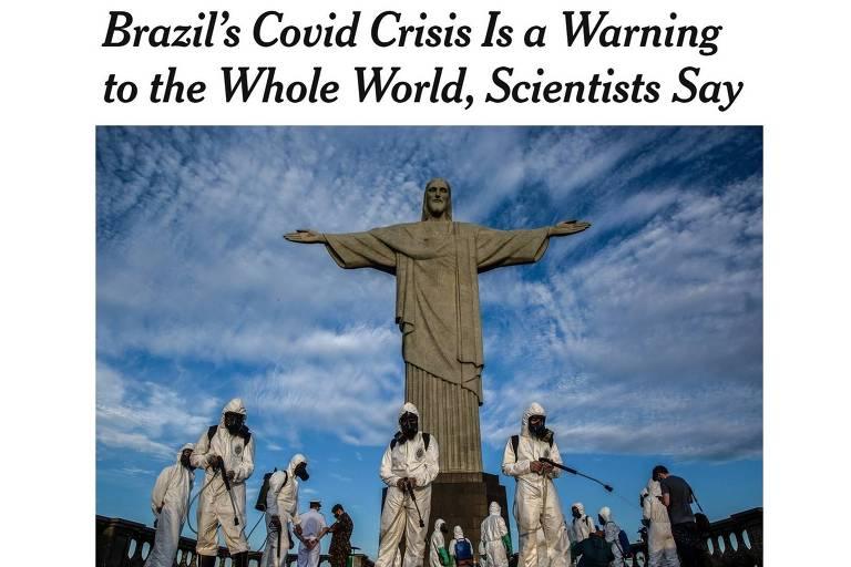No New York Times, Covid no Brasil é 'alerta para o mundo'