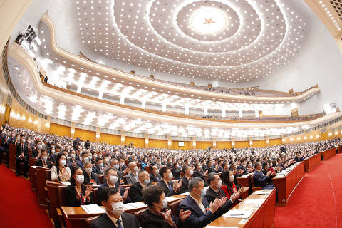 (210304) -- BEIJING, March 4, 2021 (Xinhua) -- The fourth session of the 13th National Committee of the Chinese People's Political Consultative Conference (CPPCC) opens at the Great Hall of the People in Beijing, capital of China, March 4, 2021. (Xinhua/Chen Jianli)