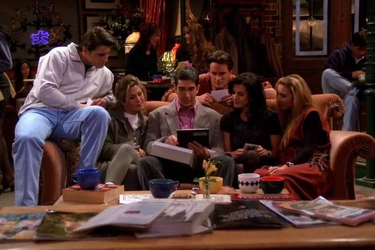 Cena da série Friends na  1ª temporada