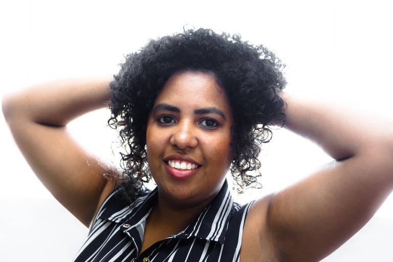Gislene Miranda de Oliveira que resolveu cortar os cabelos mais curtos para parar de usar química