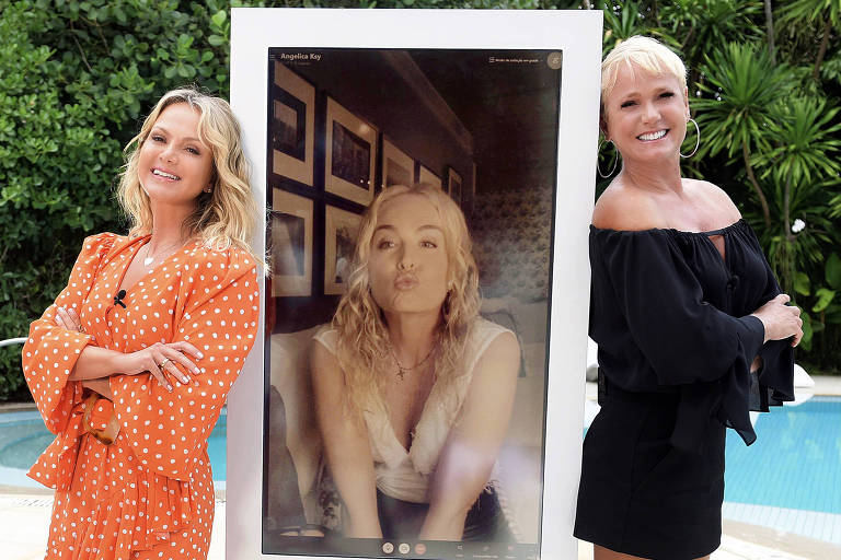 Fora da Globo, Angélica aparece ao lado de Xuxa e Eliana no SBT
