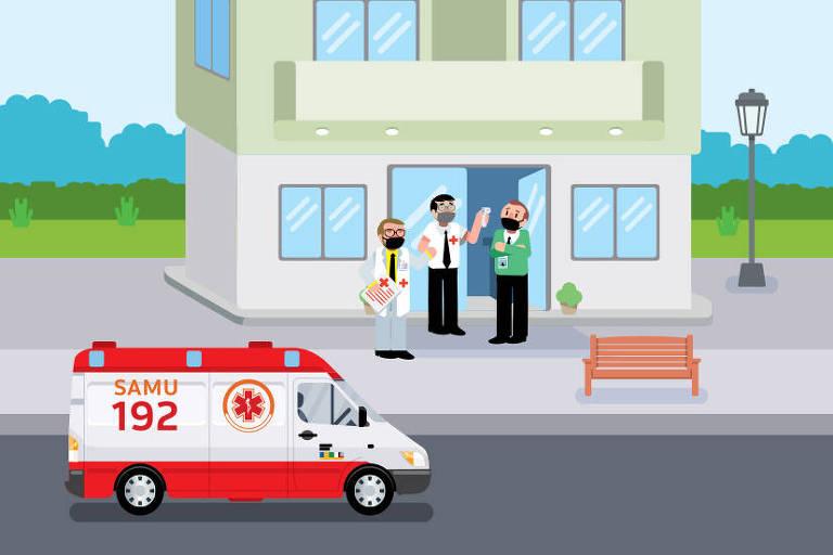 Ilustração para a Coluna Nos prédios sobre vigilância sanitária