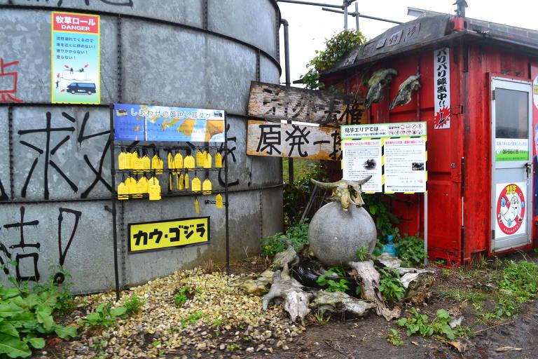 A cidade de Namie, na província de Fukushima (Japão), classificada como de difícil retorno devido à radiação após acidente nuclear causado por terremoto e tsunami
