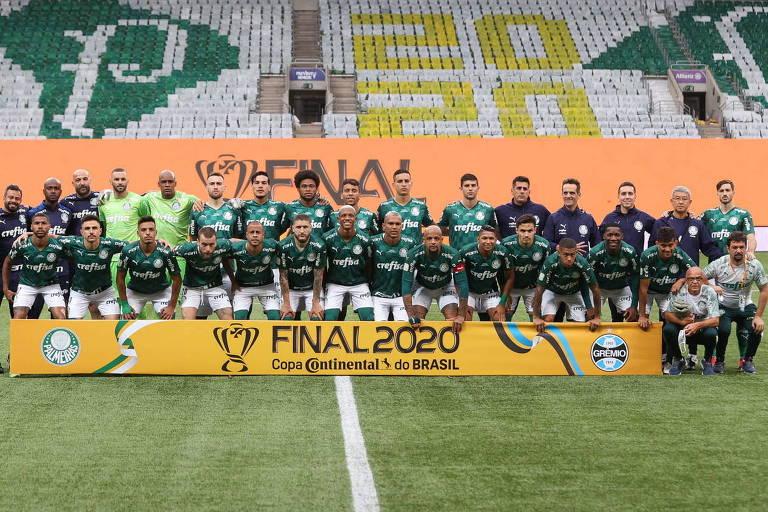 Foto do Palmeiras antes da decisão contra o Grêmio