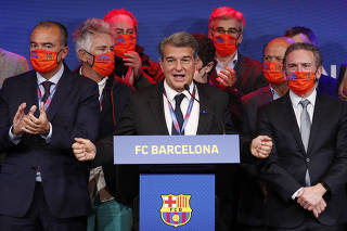 FC Barcelona elects Joan Laporta as new club president