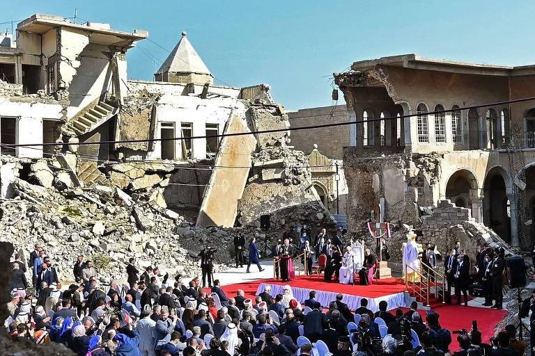 Veja fotos da visita do Papa Francisco ao Iraque
