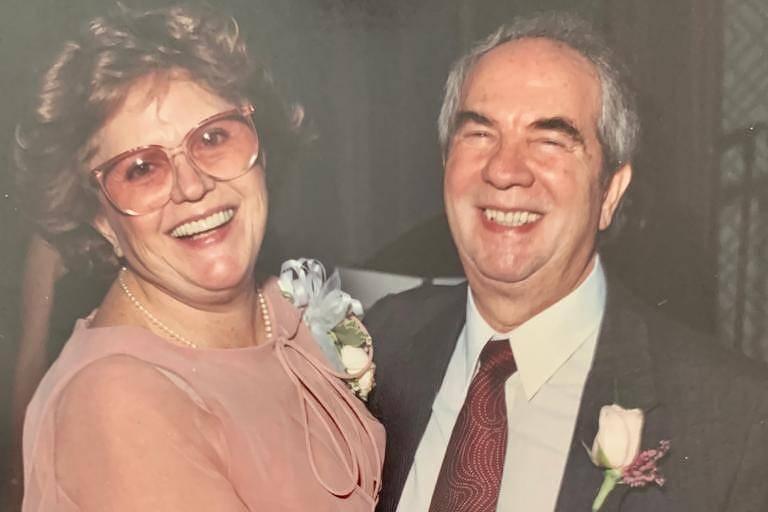 Francisco Walter Piraino (1925-2021) e a esposa Amneris Gobbato Piraino