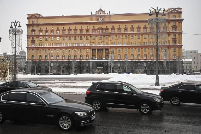 Sede da antiga KGB, na praça Lubianka, que permanecerá sem nenhuma estátua à frente
