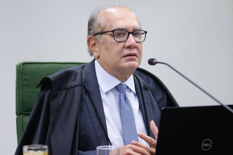 O ministro do STF Gilmar Mendes em sessão do tribunal que julga suposta parcialidade de Sergio Moro em caso envolvendo o ex-presidente Lula