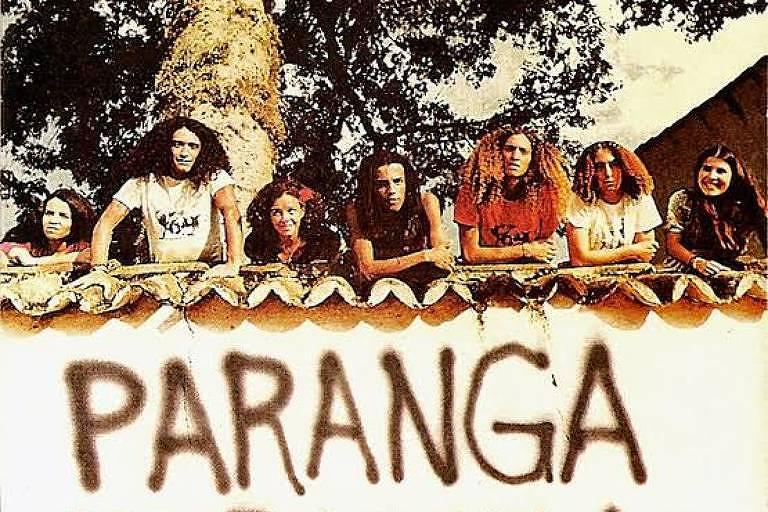 Capa do primeiro disco do Paranga; Nhô Lambis é o segundo à direita da foto