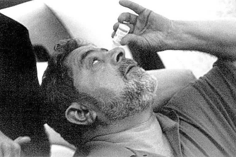 O atual presidente da República, Luiz Inácio Lula da Silva, em cena do documentário 'Entreatos', dirigido por João Moreira Salles