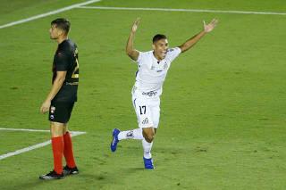 Copa Libertadores - Qualification - First Leg - Santos v Deportivo Lara