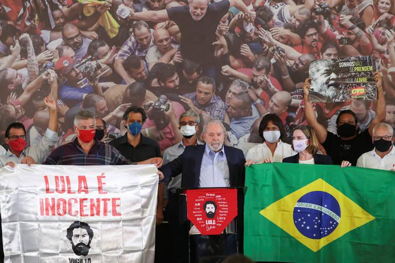 Lula fala após decisão do Supremo que o liberou para disputar as eleições
