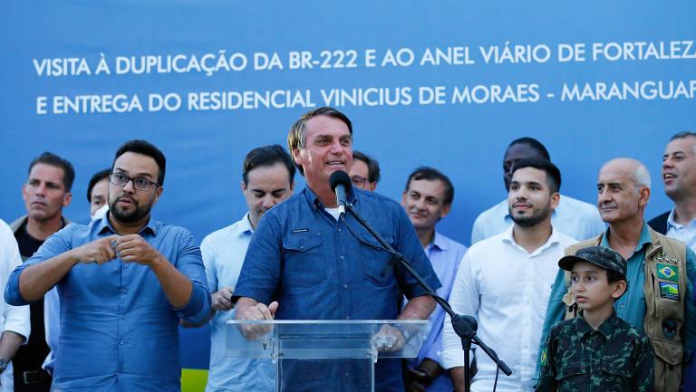 Bolsonaro e a máscara em eventos oficiais