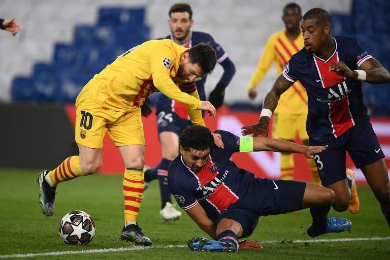 Messi perde pênalti, PSG segura empate e elimina o Barcelona na Champions