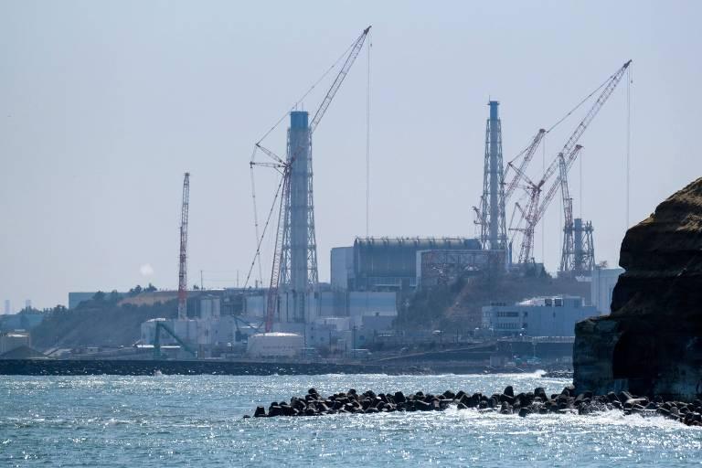 A usina nuclear japonesa de Fukushima Daiichi, que teve três reatores atingidos no tsunami de 2011