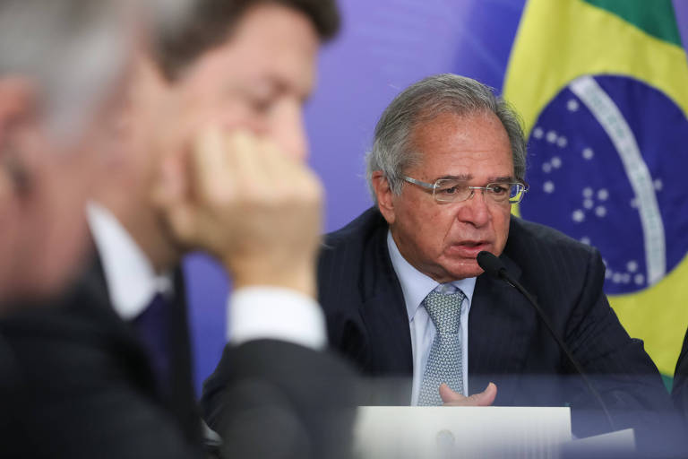 Paulo Guedes, ministro da Economia; segundo ele, PIB  neste ano vai crescer pelo menos 3%