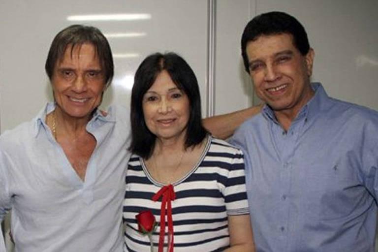 Roberto Carlos com os irmãos, Norma e Lauro Braga