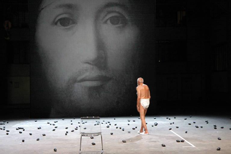 """""""Sobre o Conceito de Rosto no Filho de Deus"""", peça exibida na primeira edição da MITsp"""