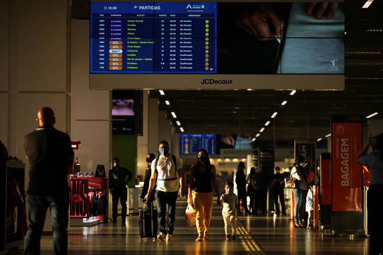 Cai movimentação de passageiros em aeroportos ao redor do mundo