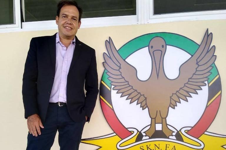 Leonardo Neiva assumiu recentemente o comando de São Cristóvão e Névis, no Caribe